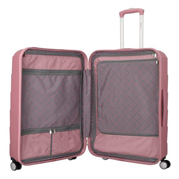 Bőrönd TRAVELITE Kalisto L rózsaszín 4 kerekű nagy méret
