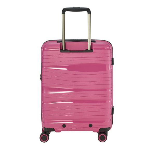 Bőrönd TRAVELITE Motion S rózsaszín 4 kerekű kabin méret