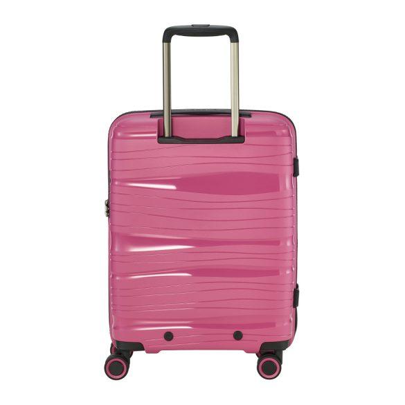 Bőrönd TRAVELITE Motion S rózsaszín 4 kerekű laptoptartós kabin méret