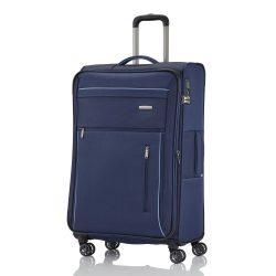 Bőrönd TRAVELITE Capri L kék 4 kerekű bővíthető nagy méret