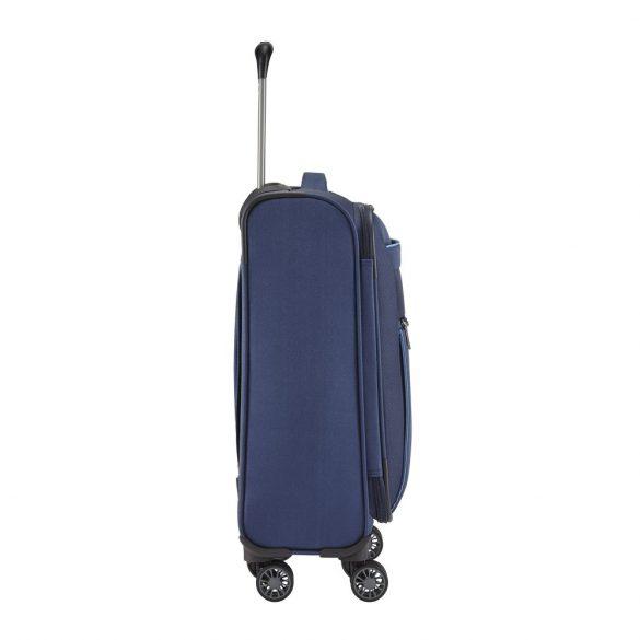 Bőrönd TRAVELITE Capri S kék 4 kerekű kabin méret
