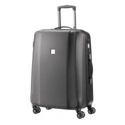Bőrönd TITAN Xenon Deluxe M grafit 4 kerekű közepes méret