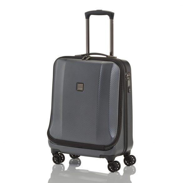 Bőrönd TITAN Xenon Deluxe S grafit 4 kerekű laptoptartós kabin méret