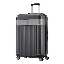 Bőrönd TITAN Spotlight Flash L antracit 4 kerekű nagy bőrönd