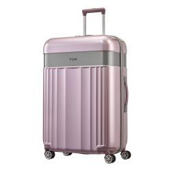 Bőrönd TITAN Spotlight Flash L rózsaszín 4 kerekű nagy bőrönd