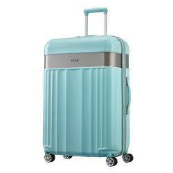 Bőrönd TITAN Spotlight Flash L menta 4 kerekű nagy bőrönd