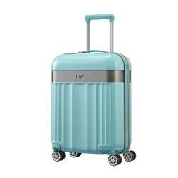 Bőrönd TITAN Spotlight Flash S menta 4 kerekű kabin bőrönd