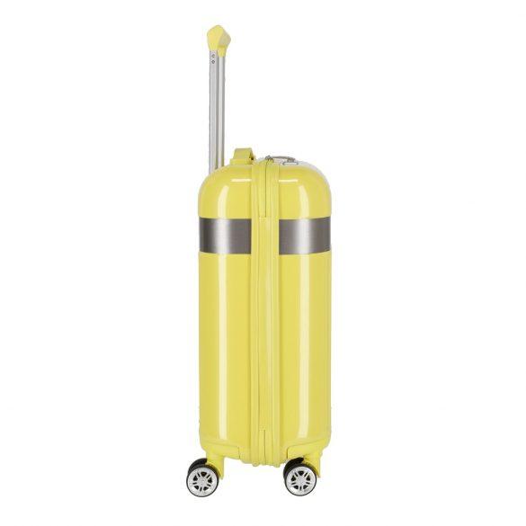 Bőrönd TITAN Spotlight Flash S sárga 4 kerekű kabin bőrönd