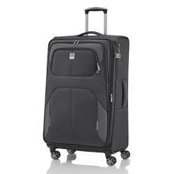 Bőrönd TITAN Nonstop L antracit 4 kerekű bővíthető nagy bőrönd