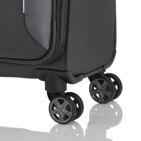 Bőrönd TITAN Nonstop M antracit 4 kerekű bővíthető közepes bőrönd