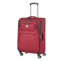 Bőrönd TITAN Nonstop M piros 4 kerekű bővíthető közepes bőrönd