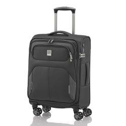 Bőrönd TITAN Nonstop S antracit 4 kerekű kabin bőrönd