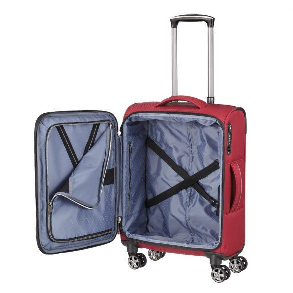 Bőrönd TITAN Nonstop S piros 4 kerekű kabin bőrönd