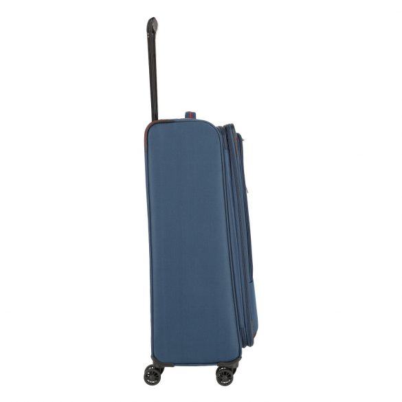 Bőrönd TRAVELITE Arona L kék 4 kerekű bővíthető nagy bőrönd