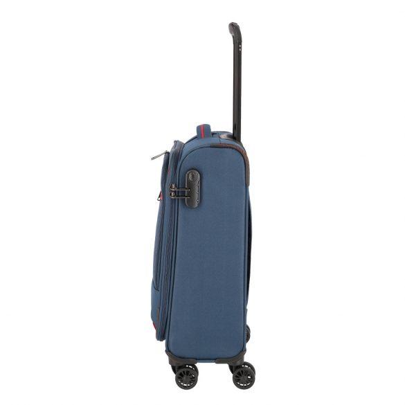Bőrönd TRAVELITE Arona S kék 4 kerekű kabin bőrönd
