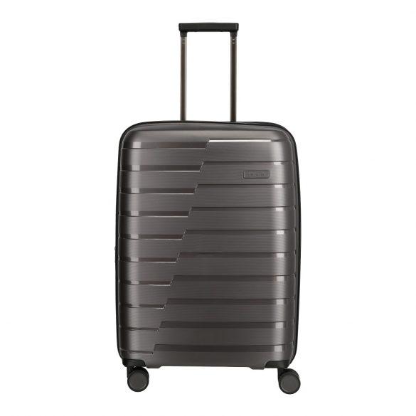 Bőrönd TRAVELITE Air Base M Antracit 4 kerekű közepes bőrönd