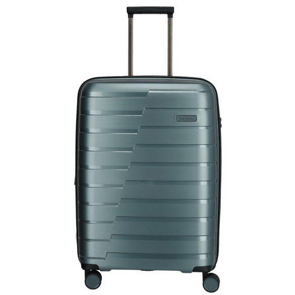 Bőrönd TRAVELITE Air Base M Jég Kék 4 kerekű közepes bőrönd