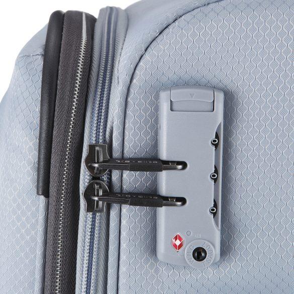 Bőrönd TRAVELITE Kite M ezüst 4 kerekű közepes bőrönd