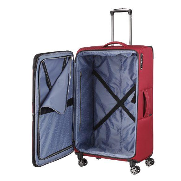 Bőrönd TITAN Nonstop L Piros 4 kerekű bővíthető nagy bőrönd