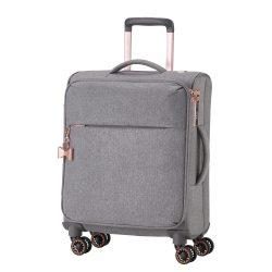 Bőrönd TITAN Barbara S szürke 4 kerekű kabin bőrönd