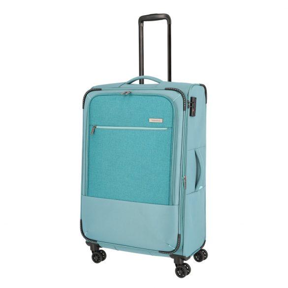 Bőrönd TRAVELITE Arona L aqua 4 kerekű bővíthető nagy bőrönd