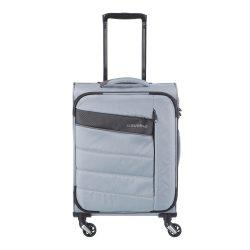Bőrönd TRAVELITE Kite S ezüst 4 kerekű kabin bőrönd