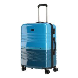 TRAVELITE Frisco M petrol-kék 4 kerekű közepes bőrönd