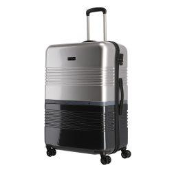 TRAVELITE Frisco L fekete-ezüst 4 kerekű nagy bőrönd