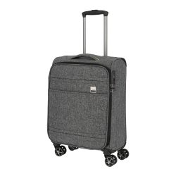 Bőrönd TITAN Novum S antracit 4 kerekű kabin bőrönd