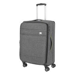 Bőrönd TITAN Novum M antracit 4 kerekű bővíthető közepes bőrönd