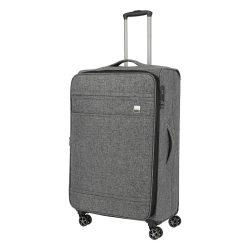 Bőrönd TITAN Novum L antracit 4 kerekű bővíthető nagy bőrönd