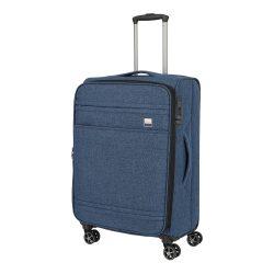 Bőrönd TITAN Novum M kék 4 kerekű bővíthető közepes bőrönd
