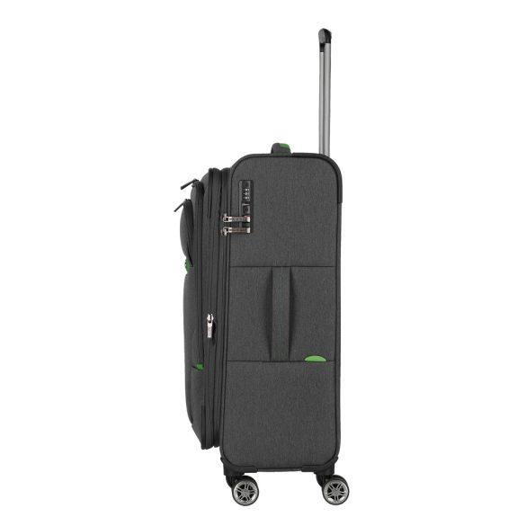 Bőrönd TRAVELITE Madeira M antracit 4 kerekű bővíthető közepes méret