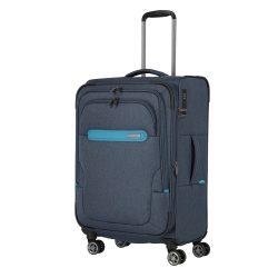Bőrönd TRAVELITE Madeira M kék 4 kerekű bővíthető közepes méret