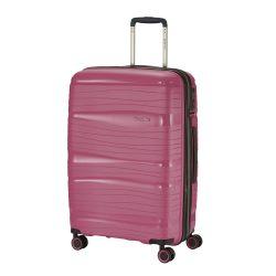 Bőrönd TRAVELITE Motion M rózsaszín 4 kerekű bővíthető közepes bőrönd