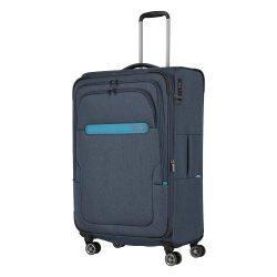Bőrönd TRAVELITE Madeira L kék 4 kerekű bővíthető nagy méret