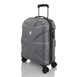 Bőrönd TITAN X2 S metál szürke 4 kerekű kabin méret