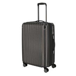 TITAN Barbara Glint M antracit 4 kerekű közepes bőrönd