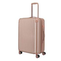 TITAN Barbara Glint M rose gold 4 kerekű közepes bőrönd