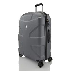 Bőrönd TITAN X2 L metál szürke 4 kerekű nagy méret