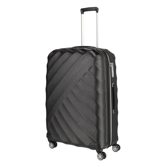 Bőrönd TITAN Shooting Star L fekete 4 kerekű nagy bőrönd