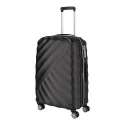 Bőrönd TITAN Shooting Star M fekete 4 kerekű bővíthető közepes bőrönd