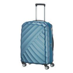 Bőrönd TITAN Shooting Star M petrol 4 kerekű bővíthető közepes bőrönd