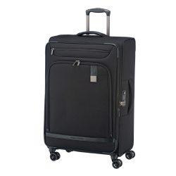 Bőrönd TITAN Ceo L fekete 4 kerekű bővíthető nagy méret