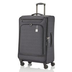 Bőrönd TITAN Ceo L antracit 4 kerekű bővíthető nagy méret
