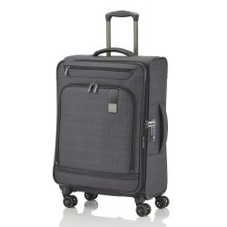 Bőrönd TITAN Ceo M antracit 4 kerekű bővíthető közepes méret