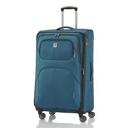 Bőrönd TITAN Nonstop L petrol 4 kerekű bővíthető nagy méret