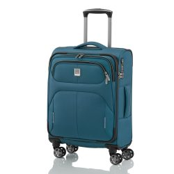 Bőrönd TITAN Nonstop S petrol 4 kerekű kabin méret