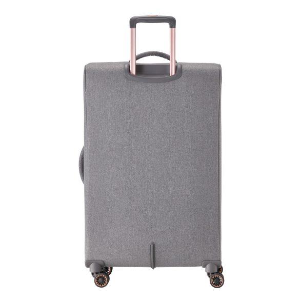 Bőrönd TITAN Barbara L szürke 4 kerekű bővíthető nagy bőrönd