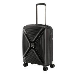 Titan PARADOXX S fekete uni 4 kerekű ütésálló kis kabin bőrönd